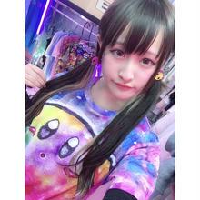 ギャラクシーピンクのモンスター総柄Tシャツ/select