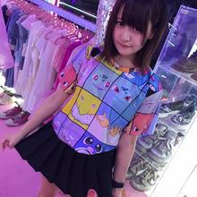 ポケモンフェイスキューブ総柄Tシャツ/select