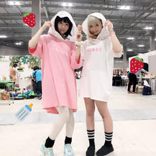 いちごみるくフードBIGTシャツ/魔法都市東京