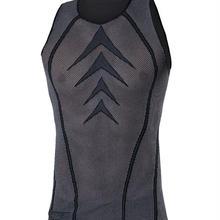 115CN Bi-Elastic ノースリーブシャツ ブラック