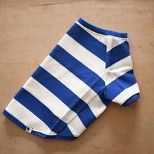 35バスクボーダーシャツ (ブルー×オフホワイト)