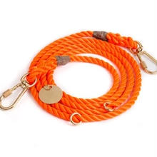 Orange Rope Leash Adjustable