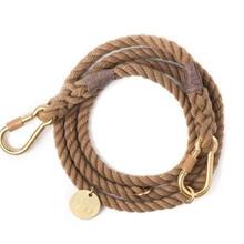 Natural Rope leash Adjustable