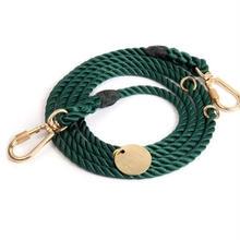 Hunter Green Rope Leash Adjustable