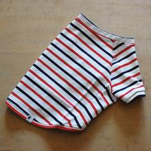 マルチボーダーシャツ(ホワイト×レッドネイビー)
