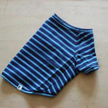 バスクボーダーシャツ(ネイビー×サックス)