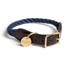 Navy Rope Cat&Dog Coller