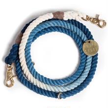 Indigo Ombre Rope Leash Adjustable