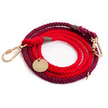 Red Solid Rope Leash Adjustable