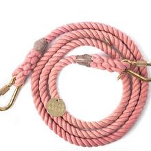 Blush Rope Leash Adjustable