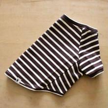 バスクボーダーシャツ(ダークブラウン×オフホワイト)