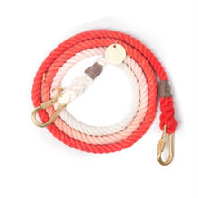 Coral Ombre Rope Leash Adjustable
