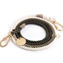Olive Ombre Rope Leash Adjustable