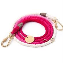 Magenta Ombre Rope Leash Adjustable