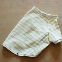 バスクボーダーシャツ(ホワイト×イエロー)