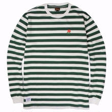 BUTTER GOODS ROSE  L/S TOP   F.GREEN/WHITE