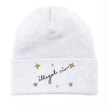 ILLEGAL CIVILIZATION STAR BEANIE  WHITE