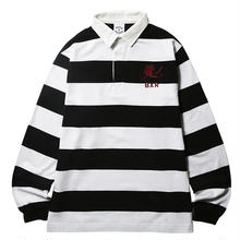 BORN X RAISED RUGBY SHIRT BLACK