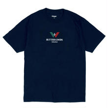 BUTTER GOODS  EMPORIO EMBROIDERED TEE    NAVY