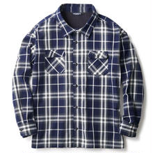 INTERBREED WIDE RANGE PLAID SHIRT NAVY