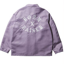 BORNXRAISED SNOOTY FOX COACHES JACKET  LAVENDER