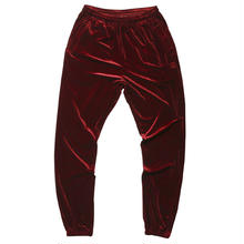 BORN X RAISED VELOUR PANTS  BURGUNDY
