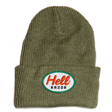 HELLRAZOR MARK PATCH KNIT CAP-GREY