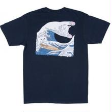 RIPNDIP THE GREAT WAVE OF NERM TEE NAVY BLUE