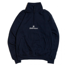 HELLRAZOR TRADEMARK LOGO HARFZIP  SWEATER NAVY