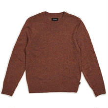 BRIXTON WES SWEATER  CLAY