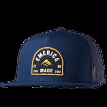 EMERICA BLITZED TRUCKER HAT   BLUE