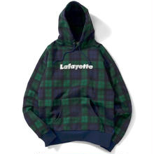LAFAYETTE LOGO PLAID PULLOVER SWEATSHIRT GREEN