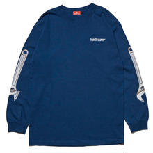 HELLRAZOR WRENCH ARM L/S TEE-HARBOR BLUE