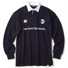 MTA X INTERBREED SUBWAY HISTORY RUGBY SHIRT NAVY
