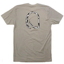 DIAL TONE CHASING TAIL TEE  SILVER