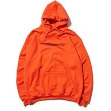 HELLRAZOR Park Script Logo Pullover Hoodie -Orange