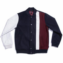 WAYWARD WHEELS STAFFORD LETTERMAN JACKET       NAVY