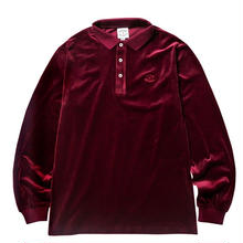 BORN X RAISED VELOUR SHIRT  BURGUNDY