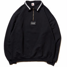 HELLRAZOR LINING HARF ZIP SWEATER BLACK