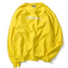 LAFAYETTE LOGO US COTTON CREW NECK SWEATSHIRT YELLOW