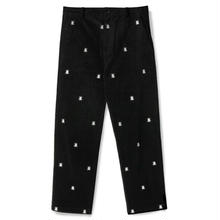 BUTTER GOODS FLY CORDUROY PANTS, BLACK / WHITE