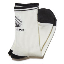 HELLRAZOR LOGO SOX -WHITE
