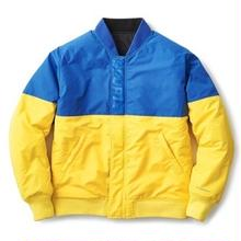 INTERBREED OPPOSITE SIDES REVERSIBLE MA-1  BLUE X YELLOW (BLACK)