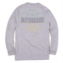 BUTTER GOODS KINGSTON OUTLINE L/S TEE    GREY