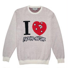 FUCKING AWESOME I HEART KNITTED SWEATER CREAM