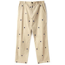 BUTTER GOODS FLY CORDUROY PANTS, NATURAL / NAVY