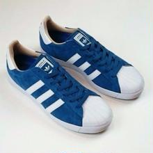 ADIDAS SKATEBOARDING SUPER STAR VULC ADV      BLUE/WHITE