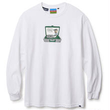 POLITO × INTERBREED  RETRO PLAYER L/S TEE  WHITE