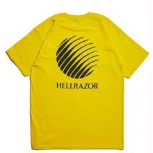 HELLRAZOR  LOGO TEE  YELLOW