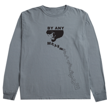 RARE PANTHER   BY ANY MEANS L/S TEE GRANITE